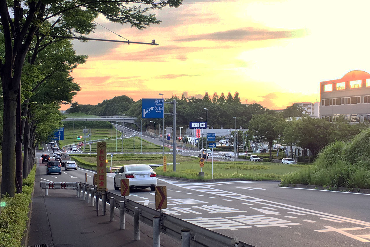 多摩東公園から尾根幹in東京2020五輪多摩市内コース