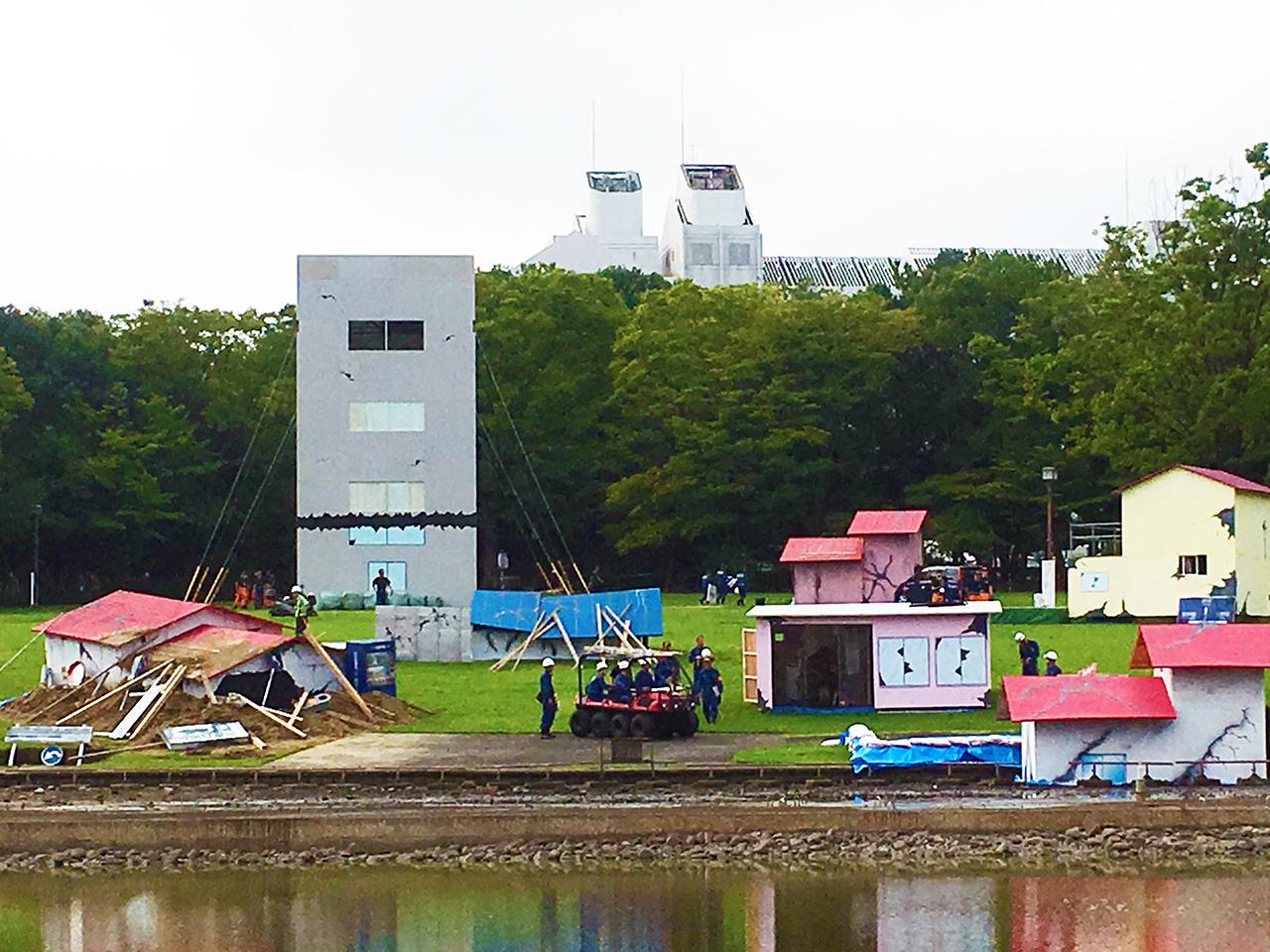 東京都多摩市合同総合防災訓練