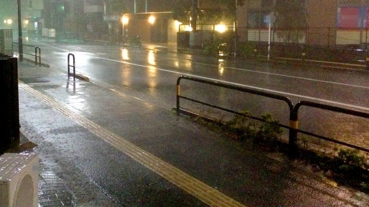 稲城市浸水
