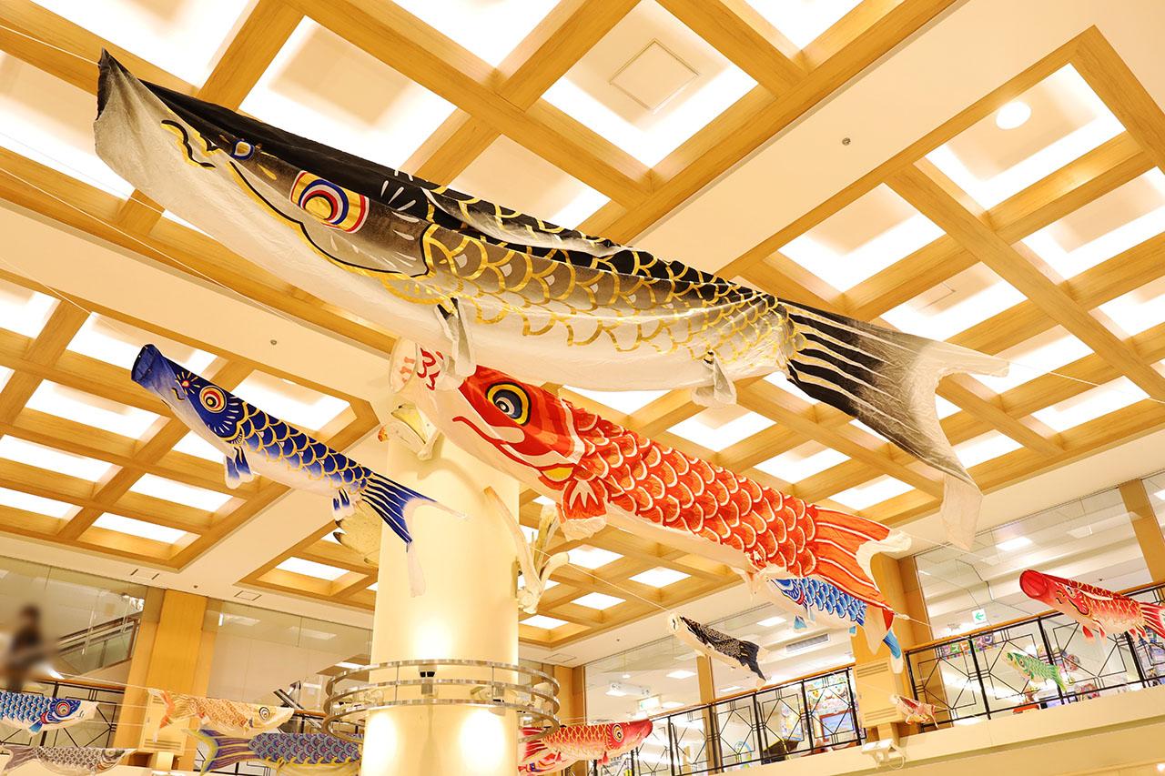 """グリナード永山に巨大鯉のぼり!美味しい""""かしわもち""""も見つけた♪"""