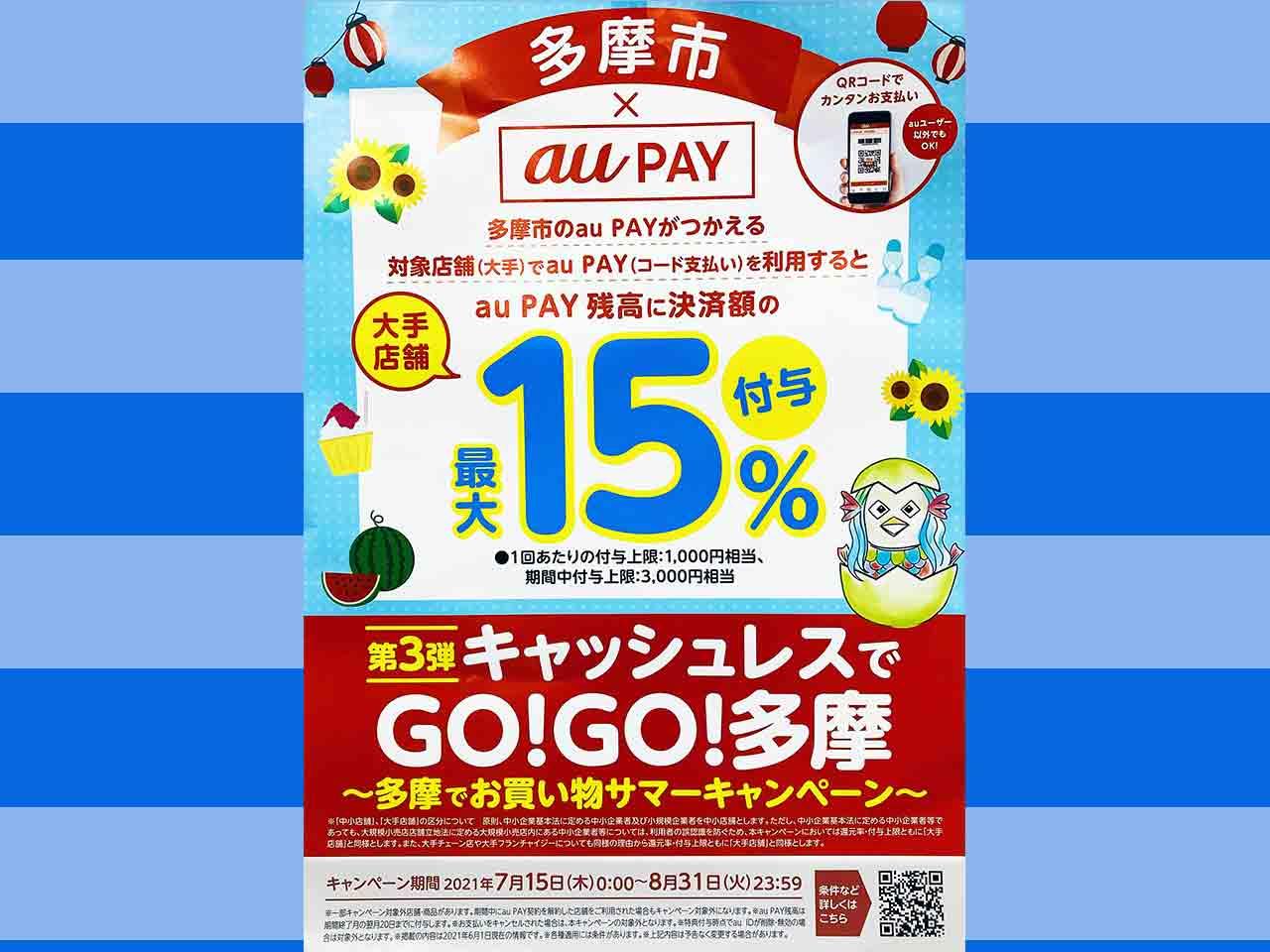 いよいよ7月15日から!「キャッシュレスでGO!GO!多摩」第3弾が始まります!